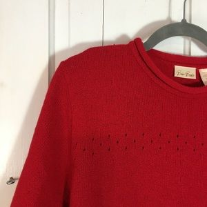 Bobbie Brooks Woman's Red Knit Sweater